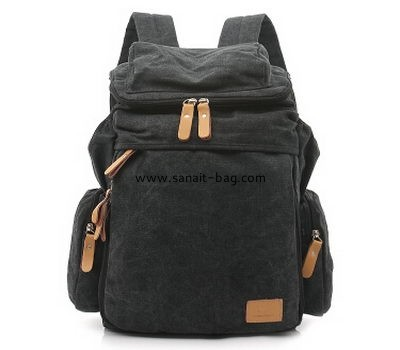 Men Leisure canvas high capacity backpack WB-004
