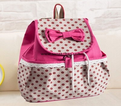 Young girl canvas school bag backpack hiking travel bag WB-019