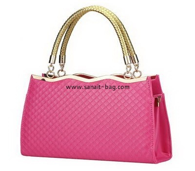Ladies diamond lattice PU finalize the disign handbag WT-035