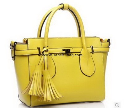 women PU leather single shulder tote handbag with tassels WT-041