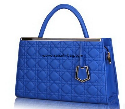 Ladies diamond shape PU leather signle shoulder tote handbag WT-046