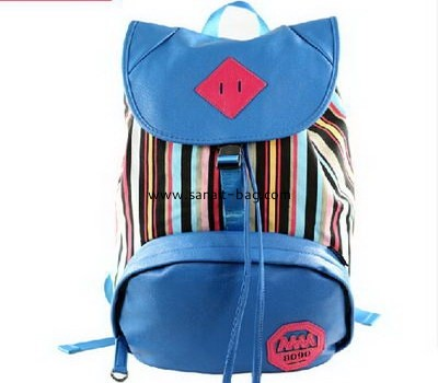 double shoulder girls canvas backpack with drawing string WB-38