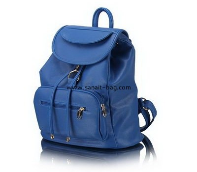 Fashion PU leather Women Backpack with pulling string WB-002