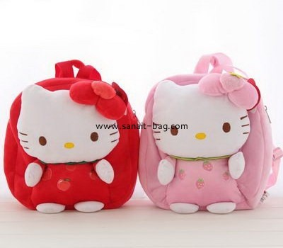 Cute soft short lint school bags wholesale for little girl SC-003