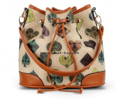 European and USA popular hobo tote bags with pulling string for ladies WT-086