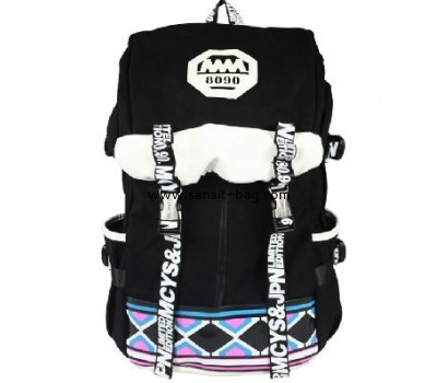 Large size canvas travel backpack for woman WB-055