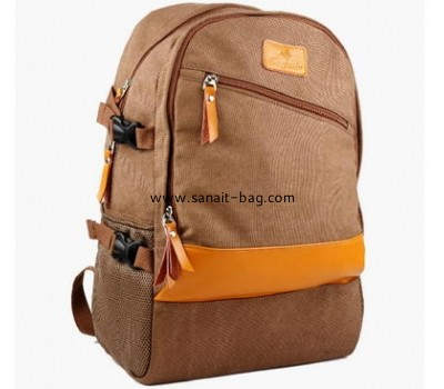 English style high quality canvas travel backpack for man MB-026