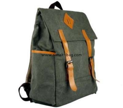 Custom fashion design canvas school bag for boys MB-027