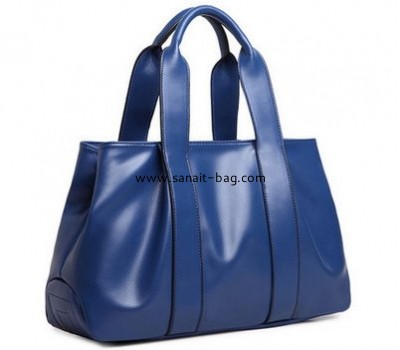Litchi stria genuine leather handbag for middle edged women WT-123