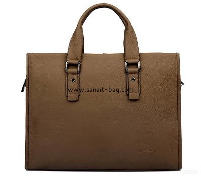 Top selling genuine leather square shape business tote bag for man MT-057