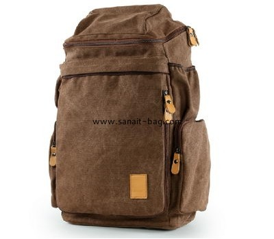Large size canvas travel backpack for men MB-060