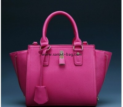 Fashion design red PU leather larger handbag for women WT+163