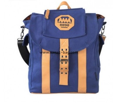 Canvas fashion school bag women backpack WB-080