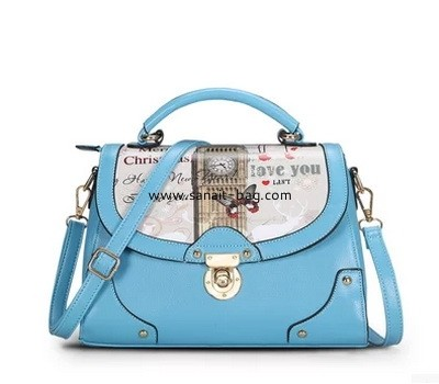 Young ladies PU leather tote handbag with cartoon printing WT-179