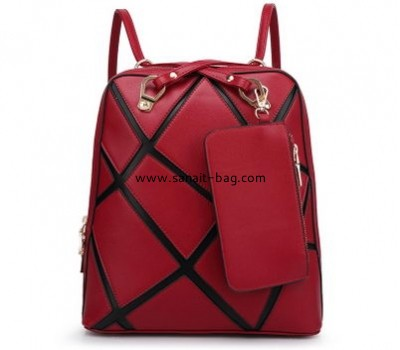 Genuine leather new design lady backpack WB-089