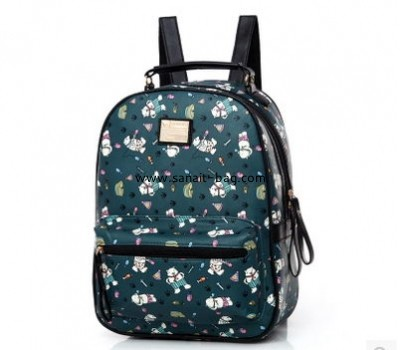 Factory price wholesale Korean designer elegant PU backpack bag school bag rucksack for young ladies girls WB-090