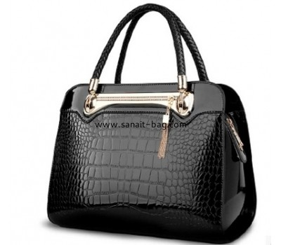 Hot sale fashion croco pu pu synthetic leather for lady bag / lady hand bag WT-183