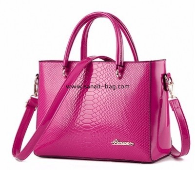 Custom design pu handbag women bag crocodile bag lady fashion bag WT-263