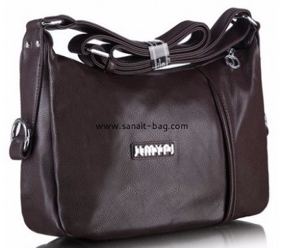 Custom polyurethane bags custom black leather handbags ladies leather bags WT-318