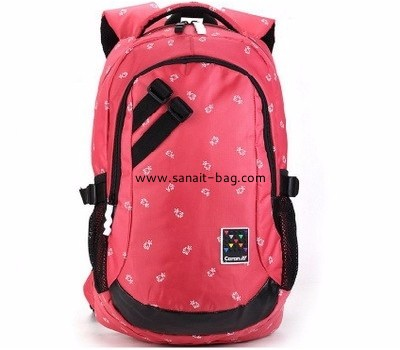 Backpack factory custom large red polyester backpack WB-144